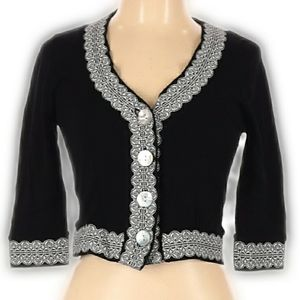 NWT Bette Paige Black & White Top/Shrug